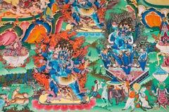 Inside buddhist temple Royalty Free Stock Photos