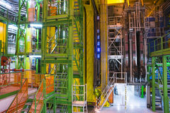 Inside building in cern Stock Photography