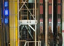 Inside building in cern. Buildings in CERN , LHCb detector experiment . Geneva Switzerland stock photos