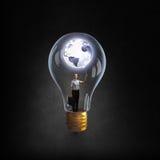 Inside of bulb Stock Photo