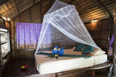 Inside of Bungalow or traditional Thai wooden house. Thailand Royalty Free Stock Photos