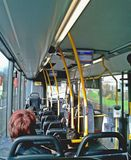 Inside a bus Royalty Free Stock Image