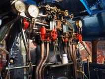 Inside cab of the London and North Eastern Railway steam locomotive Mallard 4468. Inside cab London and North Eastern Railway record breaking steam locomotive stock photography