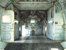 Inside of cabin on aircraft Stock Photos