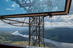 Inside Cable Car Stock Photography