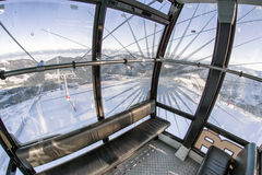 Inside of cableway in ski resort Jasna, Slovakia Royalty Free Stock Photos
