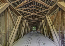 Inside Cades Mill Covered Bridge Royalty Free Stock Photography