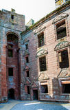 Inside Caerlaverock Castle, Scotland. The remains of the medieval lord Robert Maxwell lodgings Royalty Free Stock Photo
