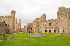 Inside Caernarfon Castle. View of the interior of Caernarfon castle, Wales, UK Royalty Free Stock Image