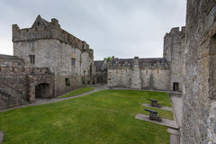 Inside Cahir Castle. View from the inside of old Cahir Castle Stock Photo