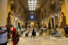 Inside Cairo Museum - Egypt. Cairo, Egypt Jan. 2018 Ancient antiques at Cairo Museum Egypt Egyptian Museum royalty free stock images