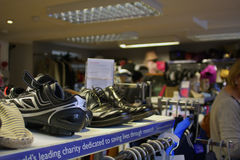 06.08.2015, inside Cancer Research Charity Shop in Linlinthgow in Scotland, UK. 06.08.2015. inside Cancer Research Charity Shop in Linlinthgow in Scotland, UK Stock Photo