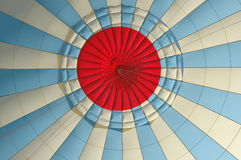 Inside the canopy of a hot-air balloon Royalty Free Stock Photos