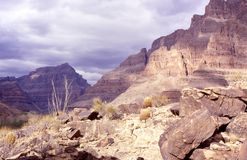 Inside the Canyon. Grand Canyon floor royalty free stock images