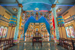 Inside cao dai temple Royalty Free Stock Images