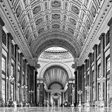 Inside the Capitol building at Havana. The big gallery inside the old cuban capitoly royalty free stock images
