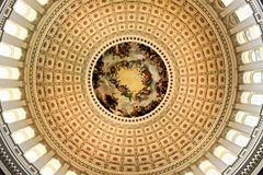 Inside the Capitol Dome Stock Photo