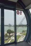 Inside capsule of The Singapore Flyer Royalty Free Stock Photos