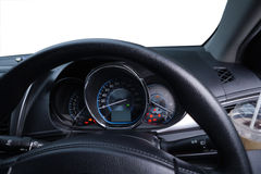 Inside car control wheel steering Stock Image
