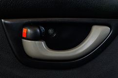 Inside Car Door Handle Stock Photo