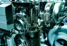 Inside of a car engine royalty free stock photography