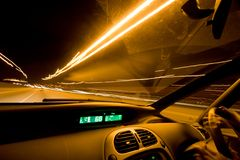 Inside car trails Royalty Free Stock Image