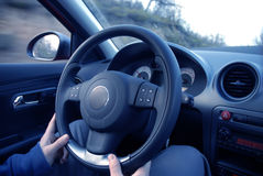 Inside car view Royalty Free Stock Image
