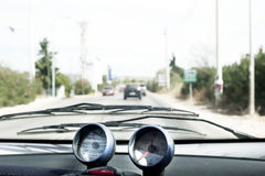 Inside car view Stock Photo