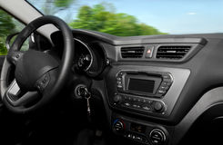 Inside car view Stock Photos