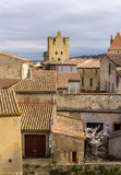 Inside Carcassonne fortified city - France Royalty Free Stock Image