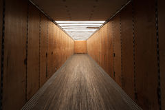 Inside cargo container. Inside an empty cargo container Royalty Free Stock Images