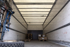 Inside cargo trailer Royalty Free Stock Image