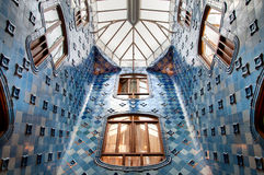 Inside of Casa Batllo. Historical Casa Batllo in Barcelona, inside view. Photo taken on: November, 2015 royalty free stock photography