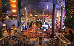 Inside of a casino floor. A look at the gambling floor of the New York-New York casino in Las Vegas Stock Photography