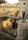 Inside the Castel Sant`Angelo in Rome Stock Photos