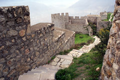 Inside the castle. Path inside the castle Amasya, Turkey Royalty Free Stock Image