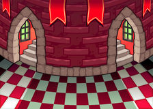 Inside the castle. Cartoon and vector illustration Royalty Free Stock Photos