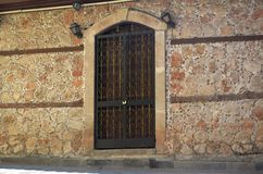 Inside the castle district of Antalya, old window from ottoman empire Royalty Free Stock Photo