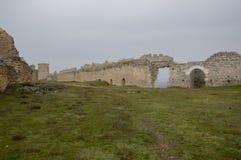 Inside the castle of Gormaz Stock Photos