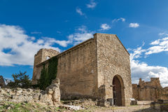 Inside the castle ruins Royalty Free Stock Image