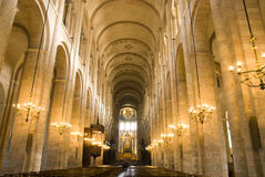 Inside the cathedral. Inside the Saint Sernin cathedral in Toulouse, south France Stock Photo