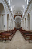 Inside the cathedral. Main nave of the cathedral of noto Stock Images