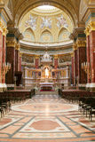 Inside of a cathedral. In Europe Royalty Free Stock Images