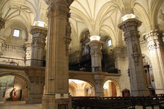 Inside a cathedral Royalty Free Stock Image