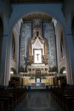 The inside of the Cathedral Basilica Sanctuary of Montevergine Stock Photography