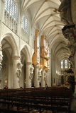 Inside the cathedral in Brussels, Belgium Stock Photo