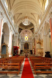 Inside cathedral of Catania Royalty Free Stock Photography
