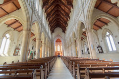 Inside a cathedral Royalty Free Stock Images