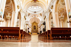 Inside of Cathedral of Chieti Italy. Cathedral of Chiet inside Italy Stock Photography
