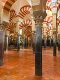 Inside the cathedral of Cordoba. Interior of the Mezquita-Cathedral de Cordoba Stock Photos